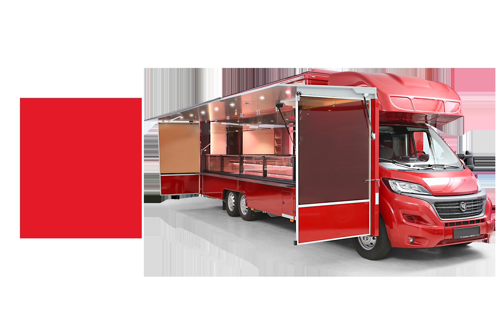 Borco Höhns Verkaufsfahrzeug auf der SÜFFA Messe 2021